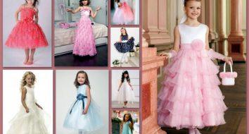 Детские платья на выпускной