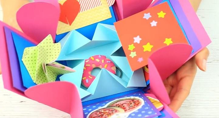 Miniatura Открытка с Днем Рождения подруге своими руками