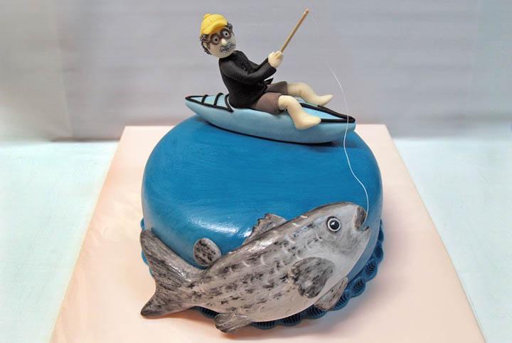 торты для рыбака на день рождения фото этот день нужно