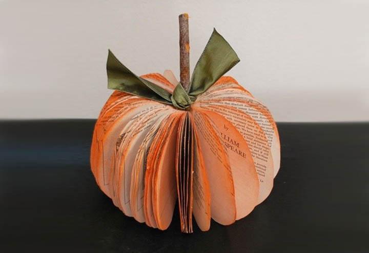 Как сделать тыкву из бумаги, картона на Хэллоуин(Halloween) своими руками, маска тыква на голову, фонари и гирлянды
