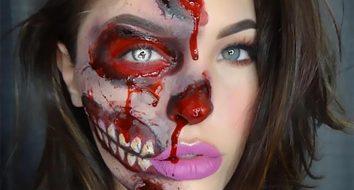 Страшный грим на Хэллоуин