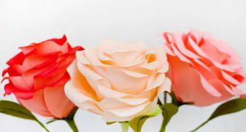 Роза большая из бумаги